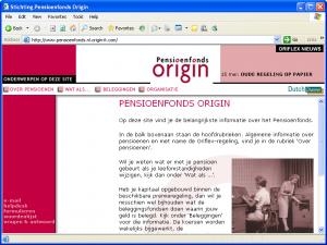Pensioenfonds Origin = Homepage