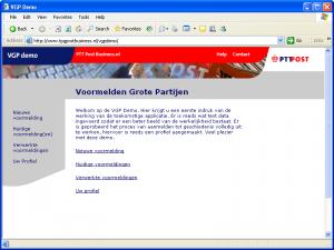 VGP = Homepage